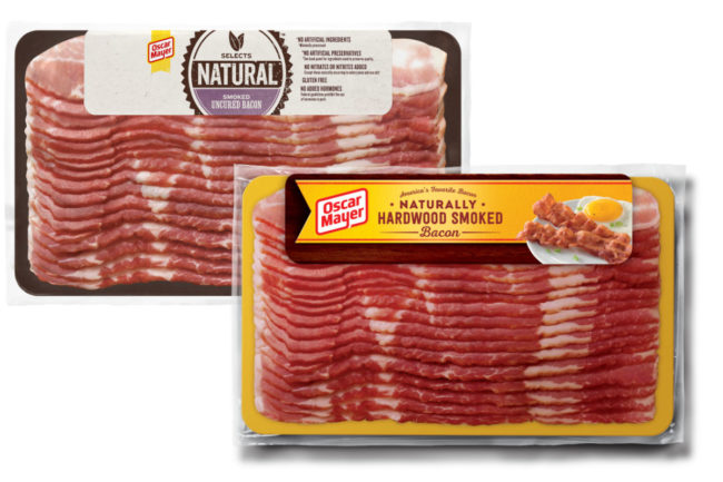 Oscar Mayer bacon smaller