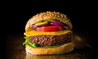 Mosa meat burger