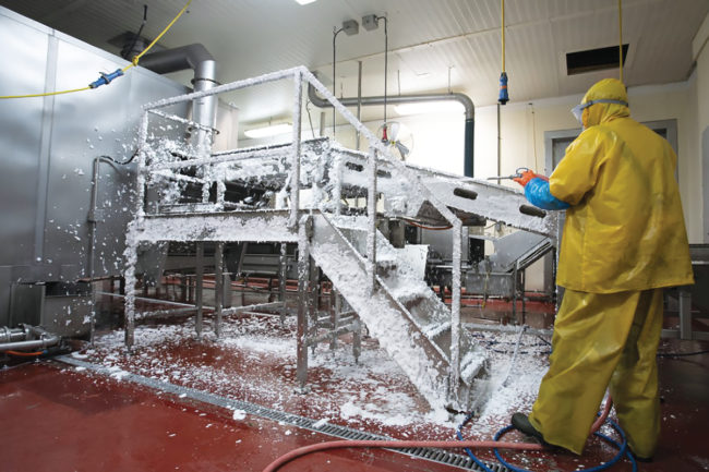 Keeping work areas at meat and poultry processing plants properly sanitized has never been more important.
