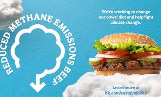 Burger king reduced emission burger