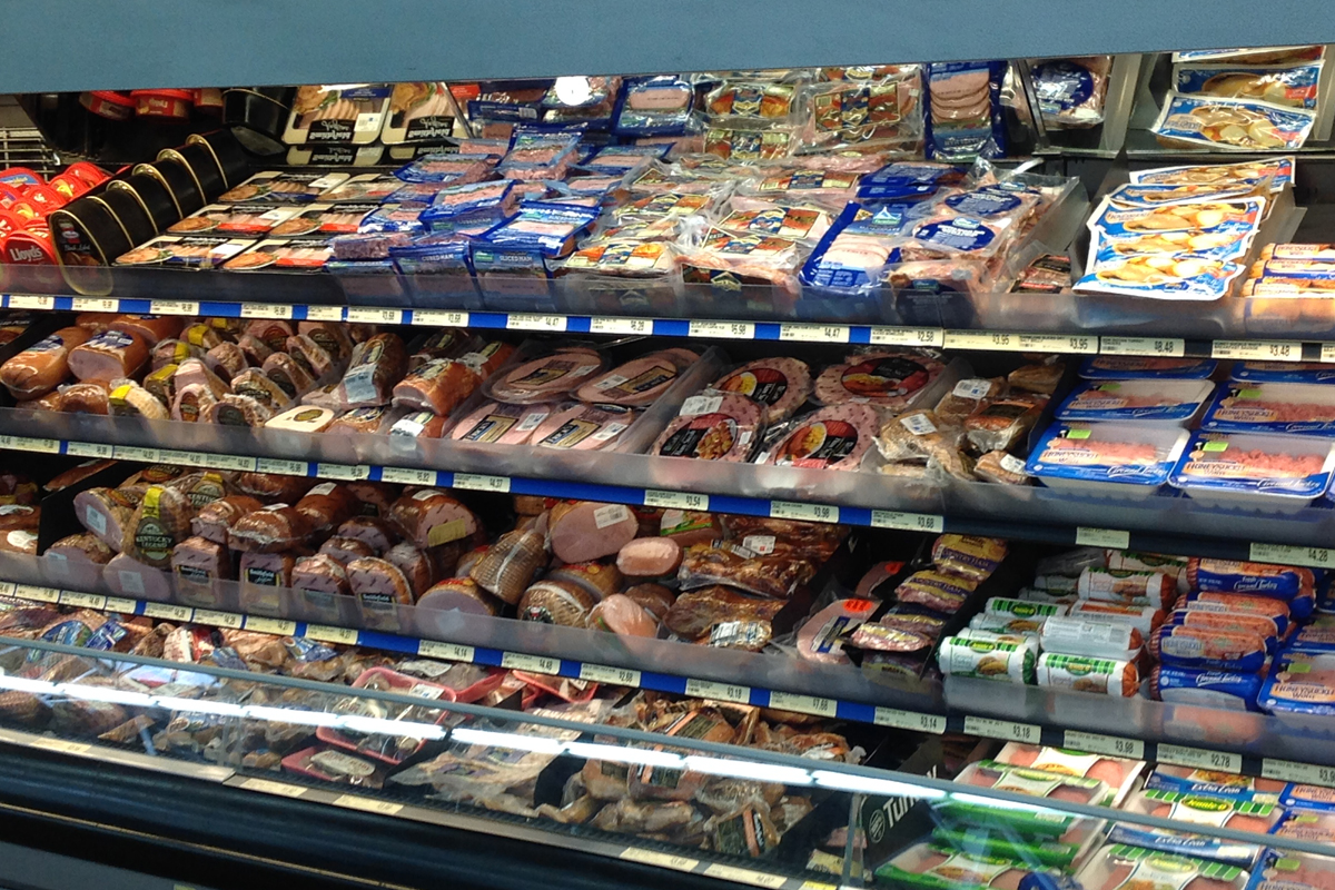 Retail meat case
