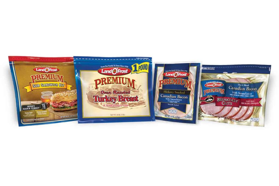 Land O'Frost deli products feature packaging that allows customers to clearly view the product.