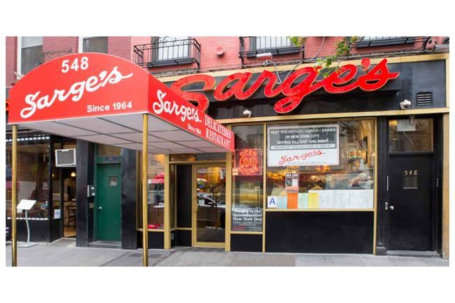 """Sarge's Delicatessen and Diner, New York, continues to be one of New York City's """"best-kept secrets."""""""