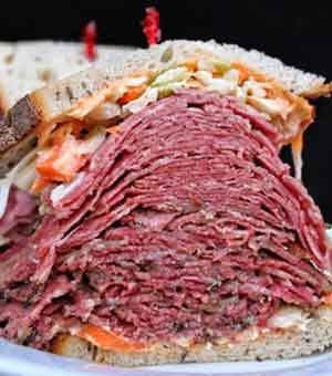 When it comes to sales at Sarge's Deli, the corned beef and pastrami continue to top the chart, particularly around the Jewish holidays.
