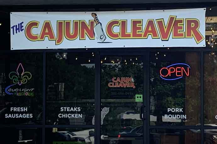 The Cajun Cleaver 800-sq.-ft. retail area features meats like andouille and boudin, turducken along with shrimp, crawfish, casseroles and gumbo dishes.