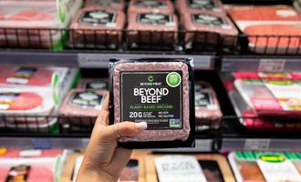 Beyond beef meat aisle lead