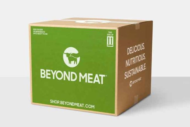 Beyond Meat's new e-commerce site will feature bulk packs, LTOs and trial packs.
