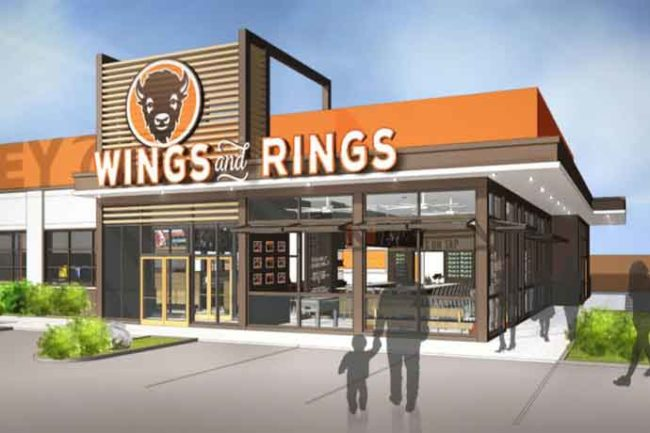 Buffalo Wings & Rings is launching a restaurant that features the company's new design model.