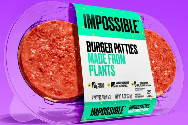 Impossible Foods has launched its Impossible Burger patties in Kroger stores.