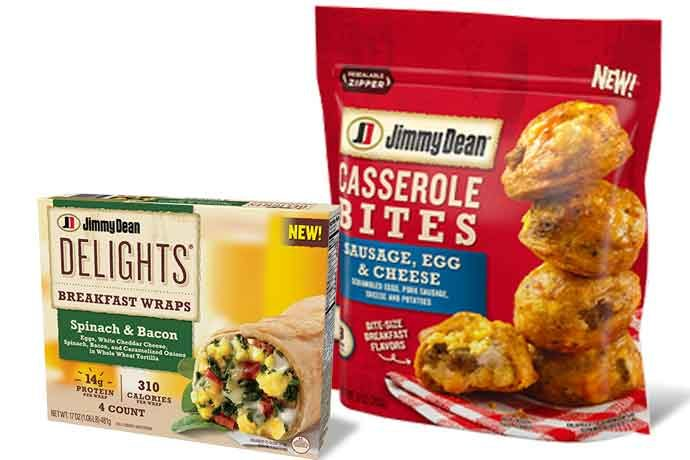 Jimmy Dean Casserole Bites and Delights Breakfast Wraps will be available in retail stores around the country.