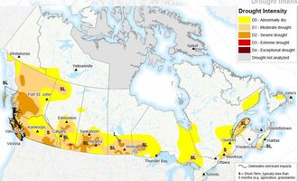 Canada drought map