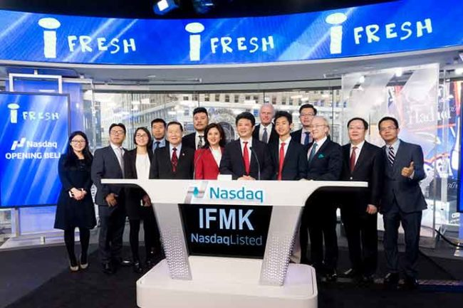 iFresh became the first public-listed Chinese/Asian supermarket chain in the United States