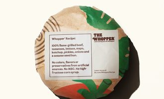 Whopper wrapper smaller