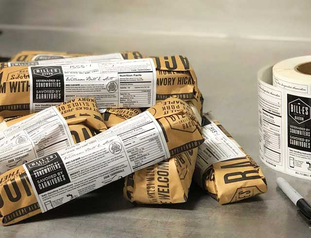 packages of Bill-E's Small Batch Bacon