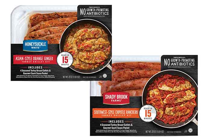 Cargill chose vacuum skin packaging for its new Turkey Skillet Kits.
