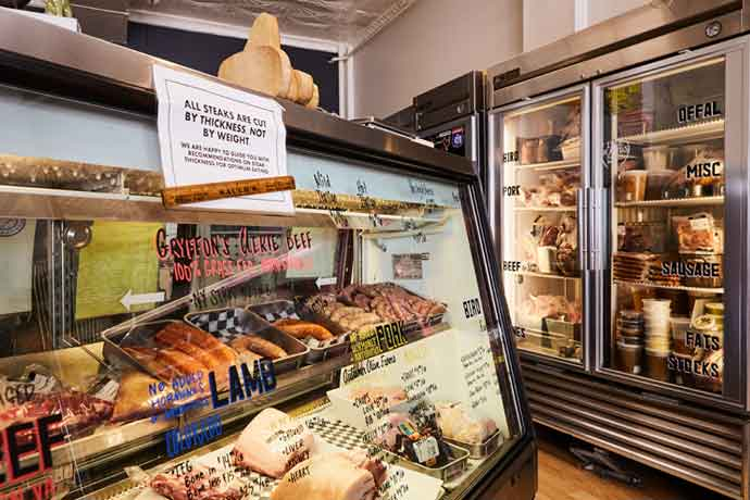 Belmont's meat options include locally sourced beef, veal, lamb, pork, yak and chicken as well as some exotic meats like kangaroo and ostrich.