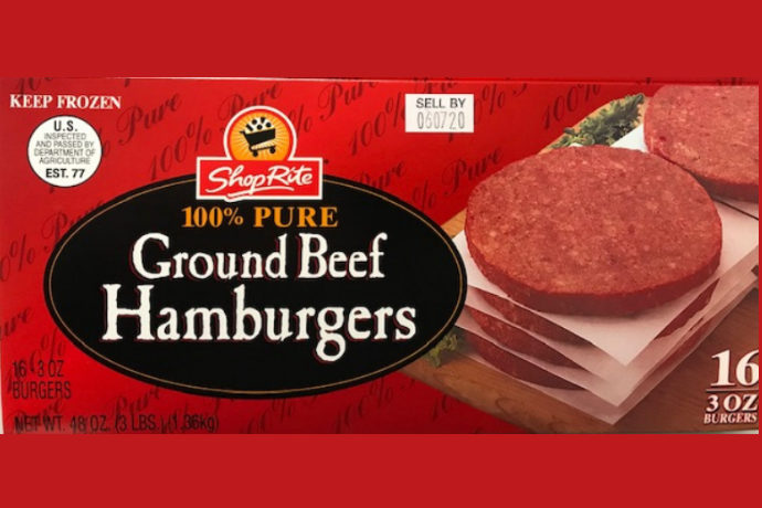 Ground beef smaller