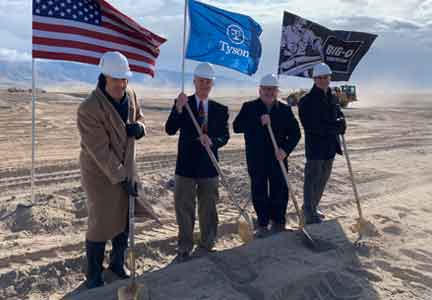 Executives with Tyson Fresh Meats, along with officials from Eagle Mountain City and the state of Utah broke ground at the site of the new plant.