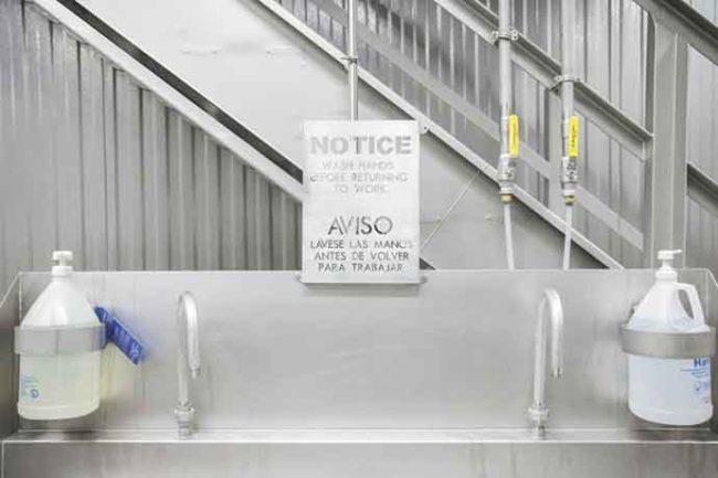 Handwashing station in a food processing plant.jpg