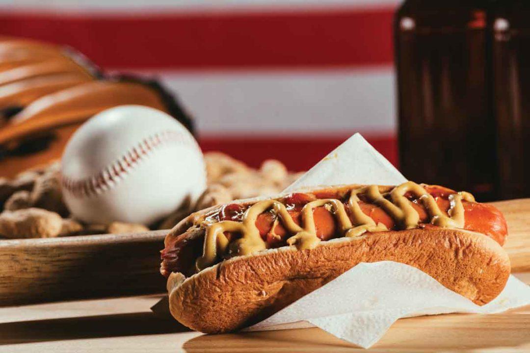 hot dogs and baseball