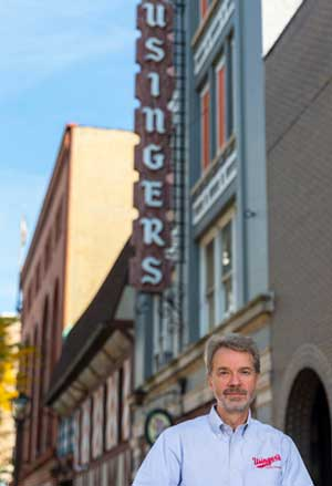 Fritz Usinger, fourth-generation owner, Usinger's