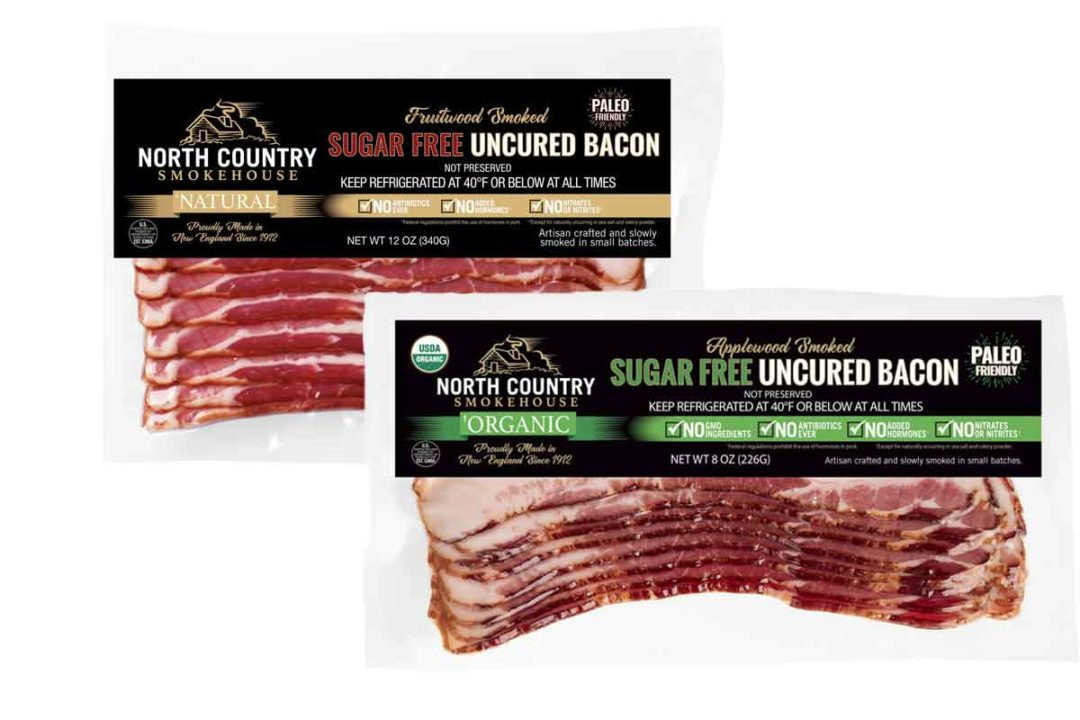 North Country Smokehouse launched a new line of sugar-free bacon.