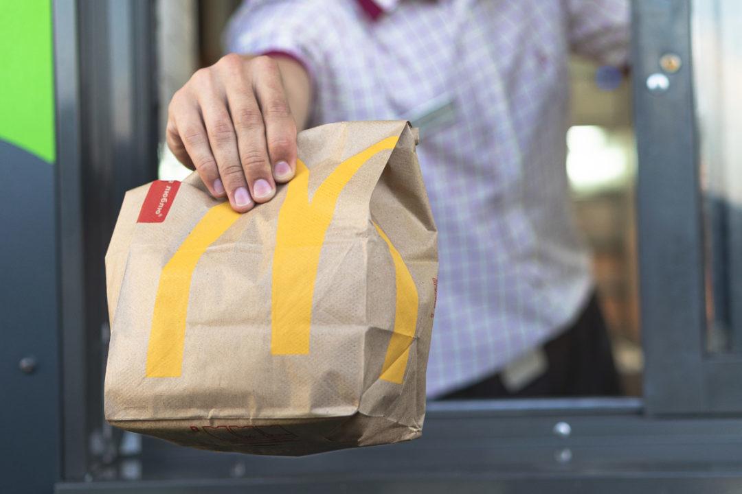 McDonalds drive through bag
