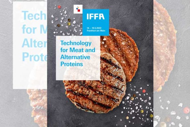 IFFA 2022 will highlight the growing trend of meat alternatives with a new section at the triennial show.