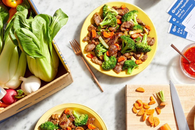 Blue Apron is offering a WW meal based on WW Freestyle.