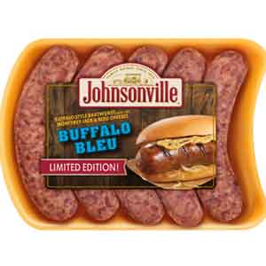 Adding different cheeses to bratwurst sausage is a common way for processors like Johnsonville to add extra flavor.