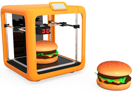 3D food printer and hamburger