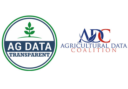 Ag Data Transparent logo, Agricultural Data Coalition logo