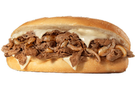 Allied Specialty Foods Philly cheese steak sandwich