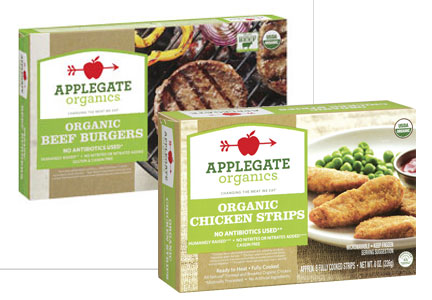 Applegate turkey burgers and chicken nuggets