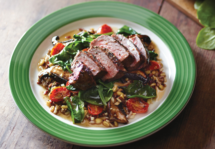 Applebee's pepper crusted sirloin with whole grains