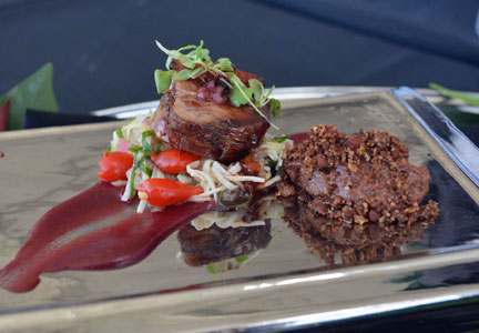 Collen Curley's bacon jam-stuffed filet mignon was the winning entry in the World Food Championships bacon division.