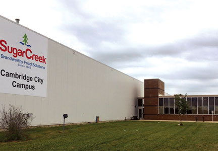 Sugar Creek's Cambridge City, Ind. facility spans 418,000 sq. ft.