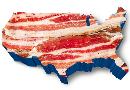 Bacon festivals are held across the United States.