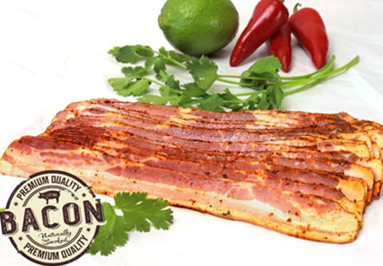 Woods brand chipotle lime bacon is featured on baconscouts.com