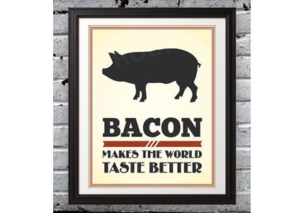 Bacon print by Daniel Jones, Benton Park PrINTS
