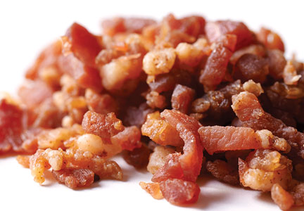 pile of bacon bits