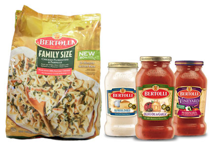 Bertolli family size skillet meals and pasta sauces, ConAgra Foods