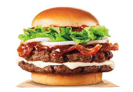 Burger King's A.1. Hearty Mozzarella Bacon Cheeseburger lifted sales for the chain.