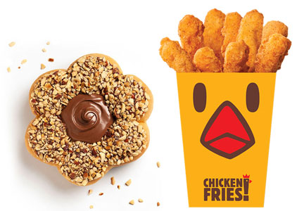 New products like Chicken Fries and a Nutella-topped donut drove sales at Tim Hortons and Burger King.
