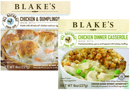 Blake's All-Natural Foods frozen meals
