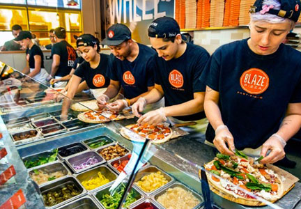 Blaze Fast Fire'd Pizza launches create-your-own pizza concept