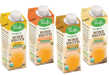 Cartons of Pacific Foods bone broth