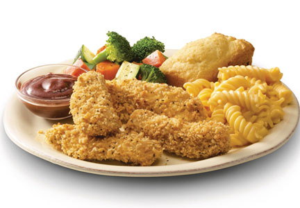 Boston Market Oven-Baked Chicken Strips meal