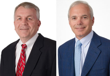 John Bowie, Arby's COO and George Condos, outgoing COO