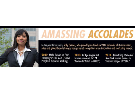 Sally Grimes accolades graphic